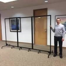 Portable Room Dividers by The Clear Acrylic Room Divider Portable Lightweight And Writable