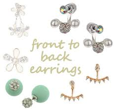 front to back earrings front to back earrings style daily