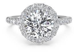 circle engagement ring cut set halo diamond band engagement ring in platinum