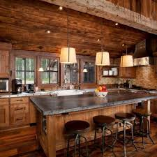 Cabin Kitchen Ideas 34 Pics Of Log Cabin Kitchens Small Kitchen Sinks