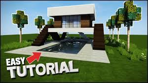Modern House Minecraft Minecraft House Tutorial Crazy Modern House Best House Tutorial