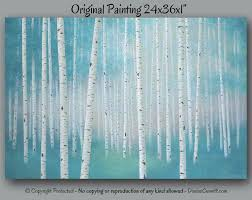 Teal And Grey Bedroom by Large Wall Art Teal Home Decor Birch Tree Art Landscape