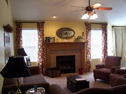 home design window treatment ideas for family room fireplace