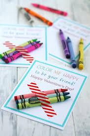 crayon valentines color me happy printable kids crayon valentines the pretty bee