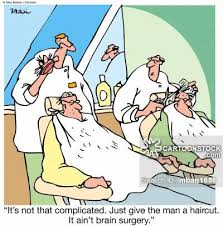 hairstyles brain surgery hair cut cartoons and comics funny pictures from cartoonstock