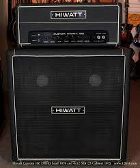 Custom Head Cabinet 1979 Hiwatt Custom 100 Head And 1975 Hiwatt Se4123 Cabinet Www