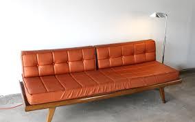 Orange Sofa Bed by 1960s Orange Sofa Daybed Manly Vintage