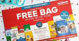 petsmart free bag of dog or cat food u2013 no purchase necessary