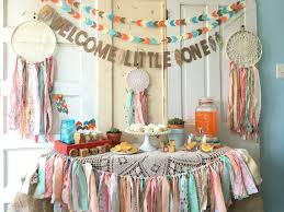 bohemian baby shower welcome one banner for baby shower boho modern baby