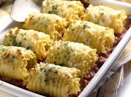 vegetarian lasagna rolls with pesto