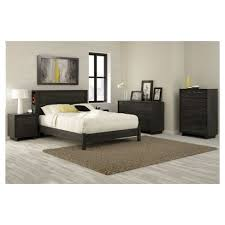 Oak Platform Bed Fynn Platform Bed Gray Oak South Shore Target