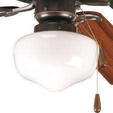 Ceiling Fan With Schoolhouse Light Schoolhouse Ceiling Fan Light Kits You Ll Wayfair