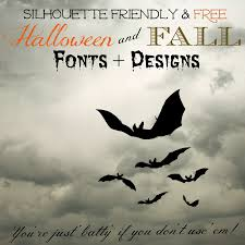 silhouette friendly u0026 mostly free fall fonts and halloween