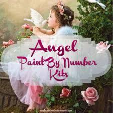 angel paint by number kits u2022 paint by number for adults