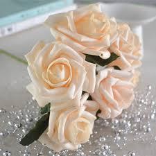 Fake Wedding Flowers Light Champagne Flowers Artificial Wedding Flowers Supplies 72