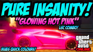 gta online ikues quick colours insane glow in the dark paint