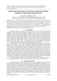 Qa Qc Engineer Resume Sample by Biochemical Alternation In Fresh Water Fishe Labeo Rohita Exposed To U2026