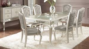 dining rooms sets sofia vergara silver 7 pc dining room dining room sets colors