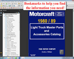 1980 89 ford light truck master parts and accessory catalog ford