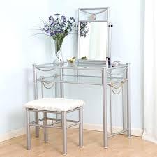 Clear Vanity Table Glass Vanity Table Buy Metal Glass Vanity Set Black Clear