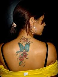 45 small butterfly tattoos on back canvas