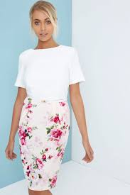 Paper Dolls Floral Skirt Bodycon Pencil Dress Paper Dolls From