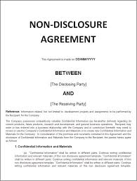 Non Disclosure Statement Template by Sle Confidentiality Agreement Facility Confidentiality