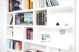bookcase simple white open plan wooden shelving ideas as room