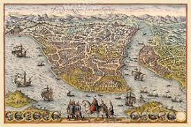 Constantinople Ottoman Empire 1576 Constantinople Ottoman Empire Historic Vintage Style Wall Map
