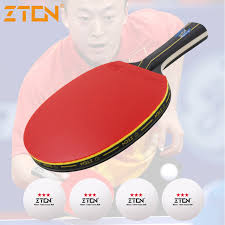 Table Tennis Racket Aliexpress Com Buy Zton Table Tennis Racket Double Pimples In