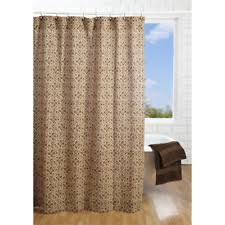 Brown Floral Shower Curtain Country Fabric Shower Curtains Ebay