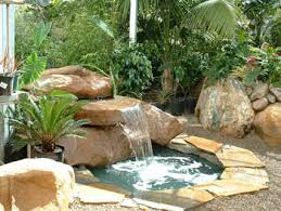 Rock Garden With Water Feature Backyard Water Feature That The Outdoor Rock Fountains