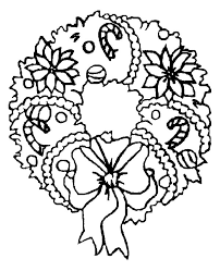 candy cane christmas wreaths coloring pages coloring sun