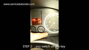 service light reset vw caddy in 4 steps youtube
