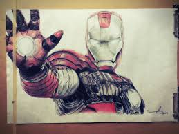 colored pencil sketch iron man by sumnerlee on deviantart