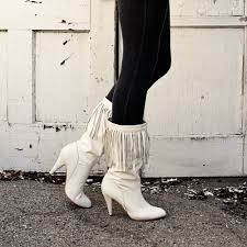 s boots style 80 s white leather fringe boots awesome 80 s fashion
