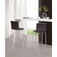 Bar Stool Sets Of 2 Zuo 29 In White Bar Stool Set Of 2 333071 The Home Depot
