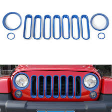 jeep front grill yaquicka 11pcs set car front grill head light turn light lamp