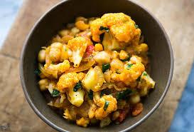 cauliflower chickpea curry recipe simplyrecipes com