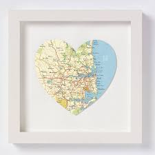 Sydney Map Sydney Map Heart Print Wedding Anniversary Gift By Bombus Off The