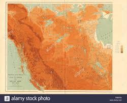 British Columbia Canada Map by Western Canada Relief British Columbia Alberta Yukon White 1906