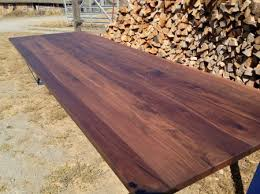 Black Walnut Table Top by Reclaimed Wood Tables