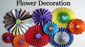 Paper Craft Ideas For Room Decoration Step By Step Beautiful Flowers For Decoration Video Dailymotion
