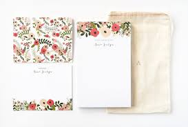 personalized stationary personalized stationery set illustrated floral stationery