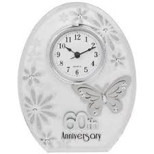 wedding clocks gifts 60th wedding anniversary clock 60 years of marrage diamond