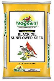 amazon com wagner u0027s 76027 black oil sunflower 25 pound bag