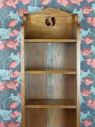 tall narrow oak bookcase very tall arts u0026 crafts narrow oak bookcase c1910 antiques atlas