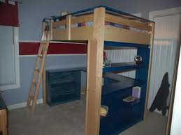 How To Make A Bunk Bed With Desk Underneath by Creative Loft Bed With Desk Underneath How To Build A Loft Bed