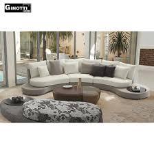 Ginotti Brown Curved Fabric Modern Furniture Sofa SetFancy Oval - Fabric modern sofa
