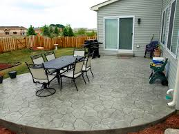 stamped concrete patios concrete patio companies basic backyard